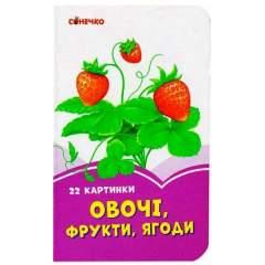 Бузкові книжки: Овочі, фрукти, ягоди. 22 картинки